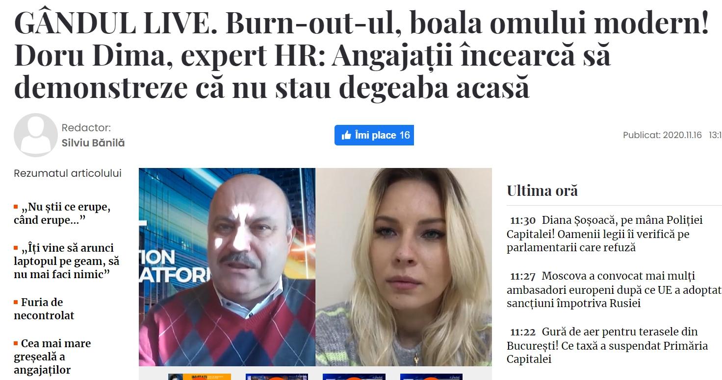 burnout blog Doru Dima